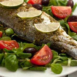 Genoese Baked Sea Bass with Pesto