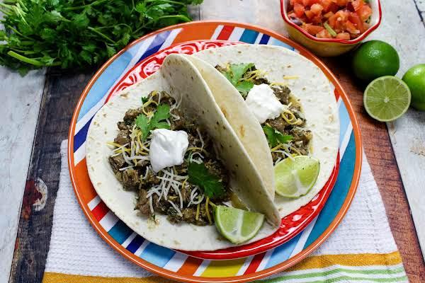 Mexican Carne Guisada In Flour Tortillas.