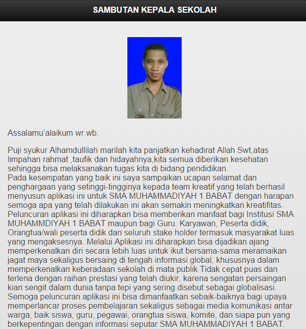Screenshots of SMA MUHAMMADIYAH 1 BABAT for iPhone