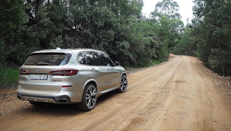 For better farm-road practicality, the new X5 can be fitted with 20-inch all-terrain tyres. Picture: RYAN ENSLIN
