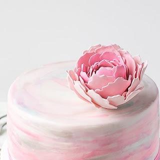 Watercolor Fondant Cake.