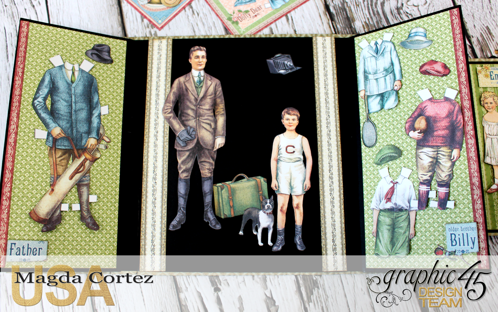 Penny's Paper Doll Family Book, Penny's Paper Doll Family, By Magda Cortez, Product of Graphic45, Photo 10 of 12.png