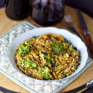 "Cheesy Broccoli and Orzo ""Risotto"""