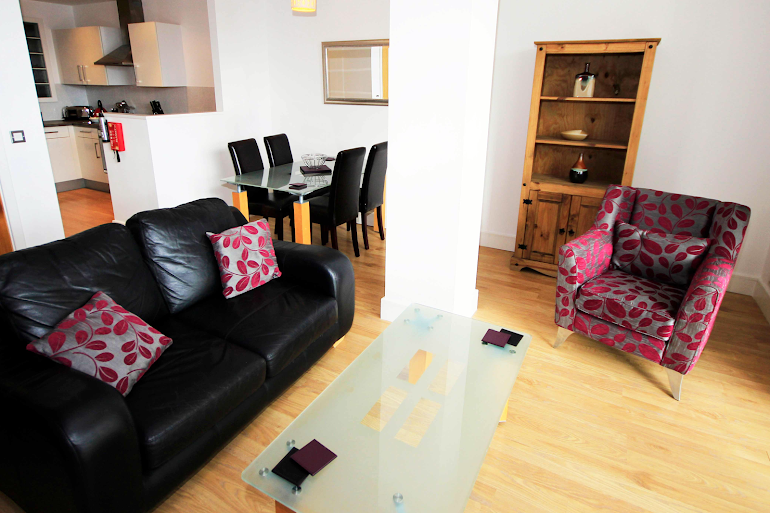 Bright living space at Friars Gate