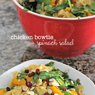 Chicken Bow Tie Spinach Salad