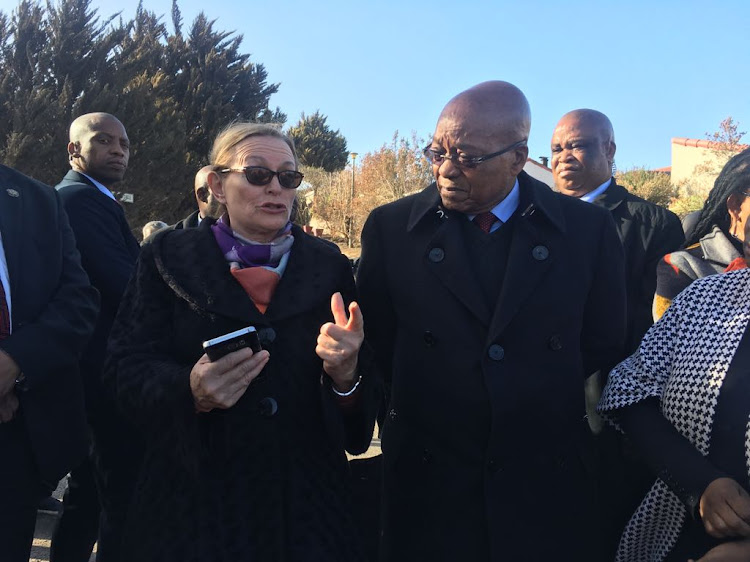 Western Cape Premier Helen Zille and President Jacob Zuma
