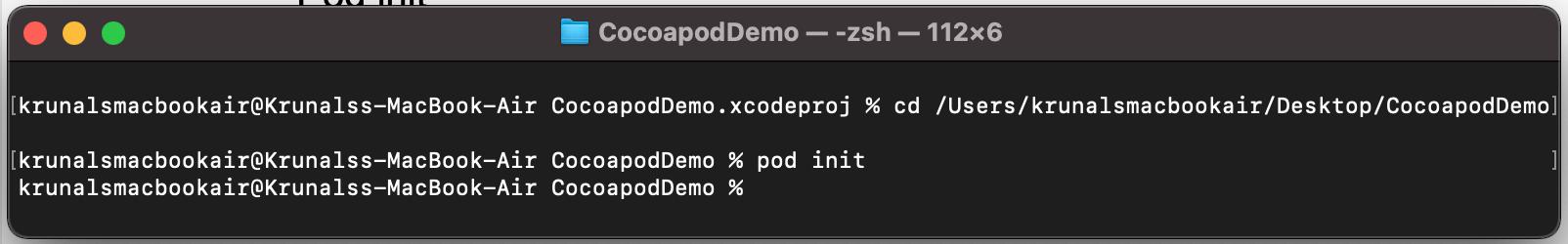 Pod init code