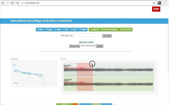 SoundMagic MP3 and WAV editor for audio files