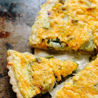 Hugh Fearnley-Whittingstall's Lettuce, Green Onion & Cheese Tart
