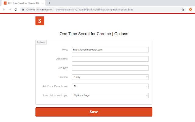 Chrome Onetimesecret