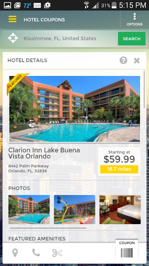 HotelCoupons.com Travel App- screenshot