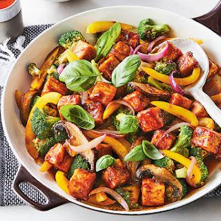 Sticky Tofu & Broccoli Stir-Fry.
