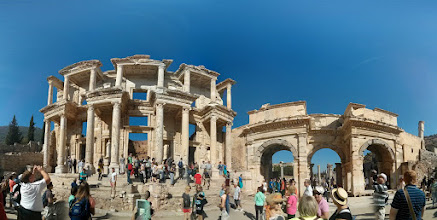Photo: Library of Ephesus entrance up-close. Unfortunately, this library is all out of books :'(