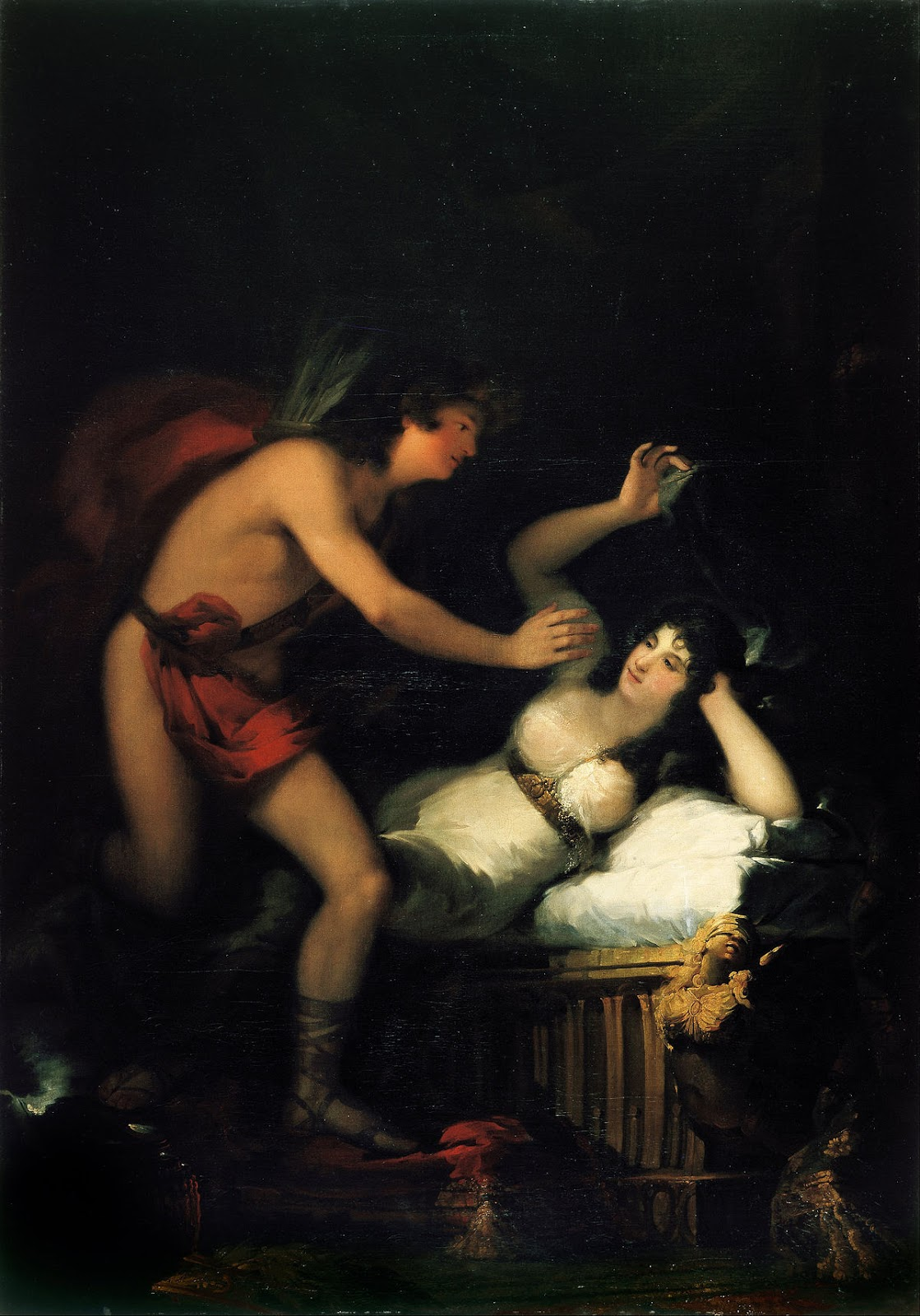 Goya's depiction of the Roman mythical love story of Cupid and Psyche. Francisco Goya, Allegory of Love, 1798-1805, Museu Nacional d'Art de Catalunya, Barcelona, Spain.