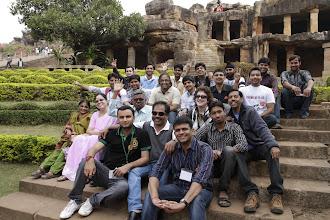 Photo: A group photo near the caves