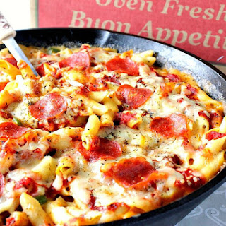 Unbelievably Cheesy Pepperoni Pizza Macaroni & Cheese.