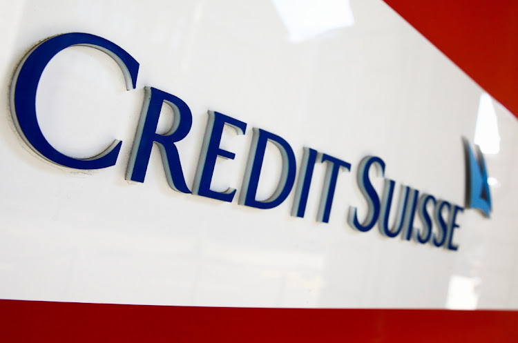The logo of Swiss bank Credit Suisse is seen at a branch office in Zurich, Switzerland, on April 14 2021. Picture: REUTERS/ARND WIEGMANN
