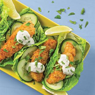 Panko-Ranch Chicken Lettuce Wraps.