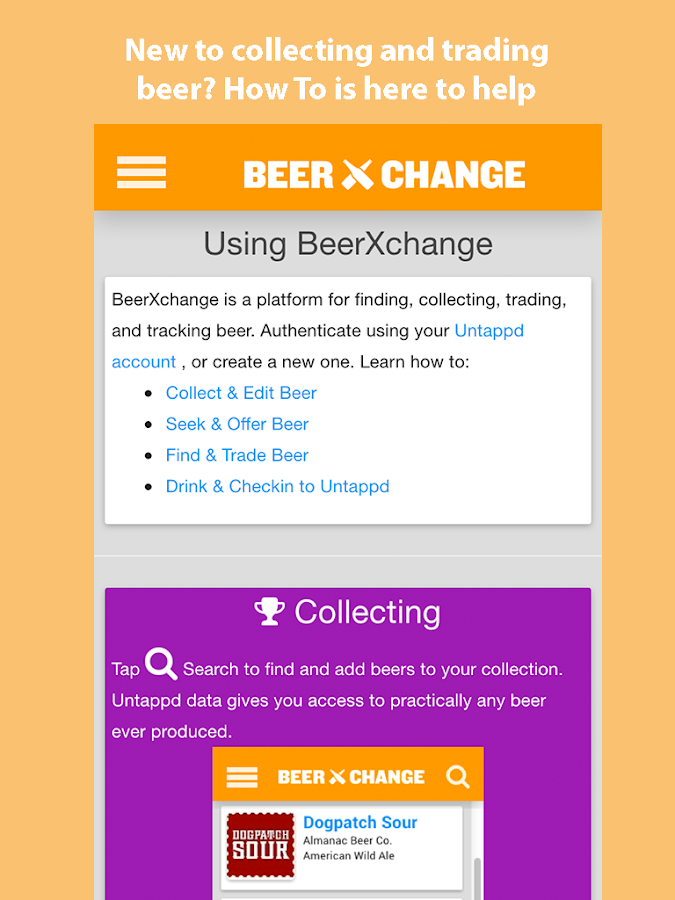 BeerXchange- screenshot
