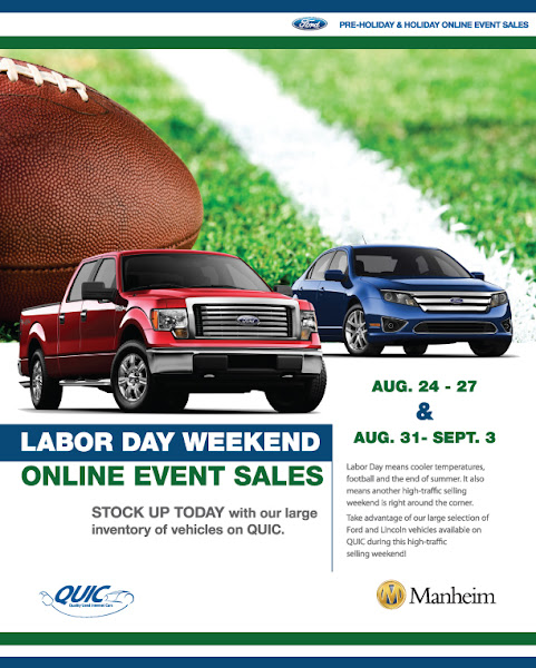 Photo: Ford QUIC Labor Day Weekend Online Event Sales! 8/24 - 8/27 & 8/31 - 9/3