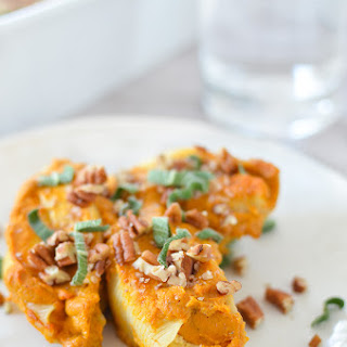 Vegan Stuffed Shells with Butternut Sage Sauce