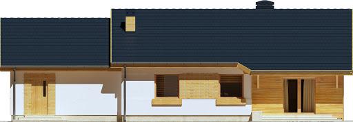 Julek trend z garażem 2-st. A1 - Elewacja tylna