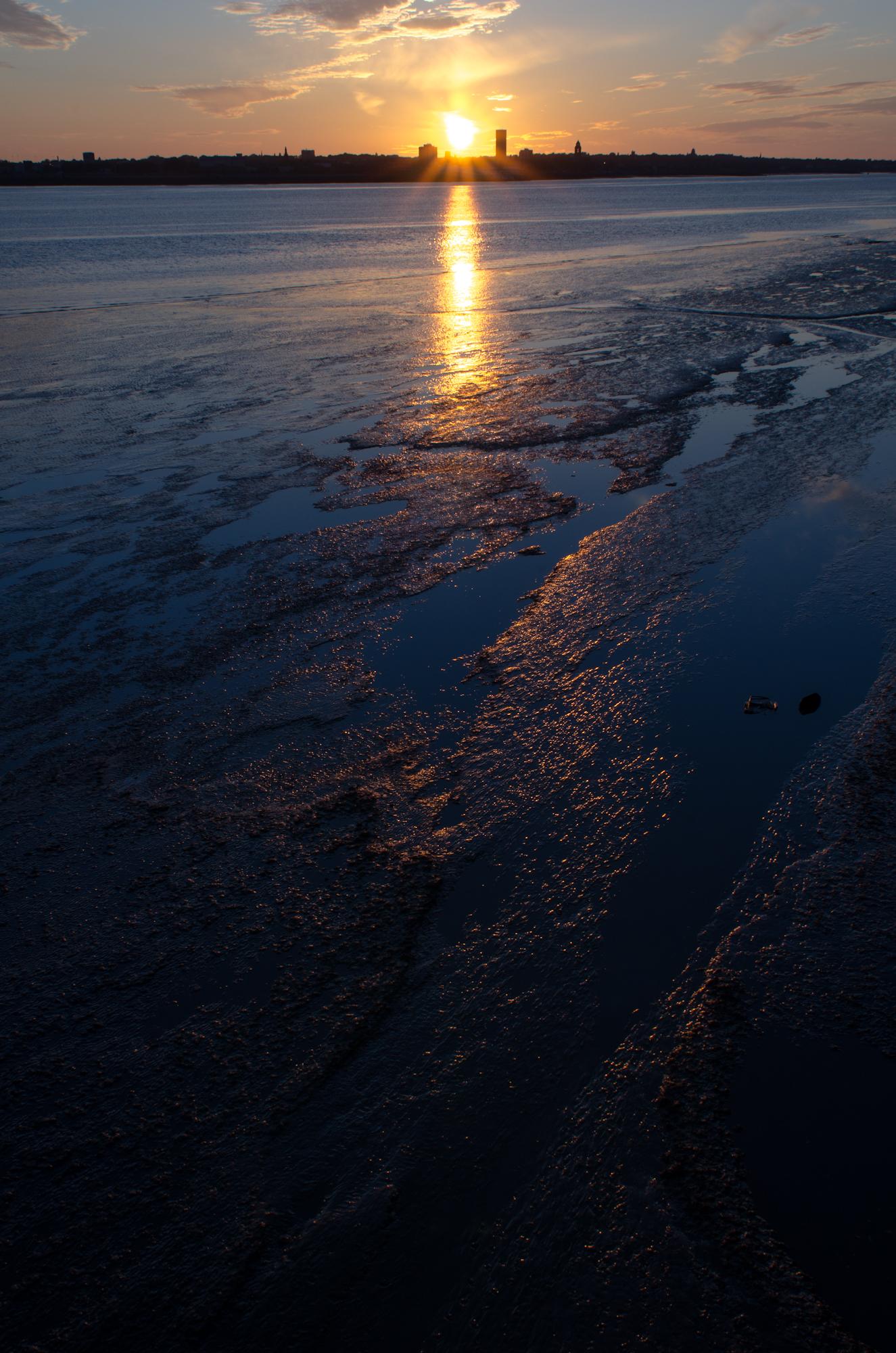 Photo: Sunset over Birkenhead