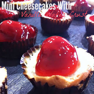 Mini Cheesecakes with Vanilla Wafer Crust.