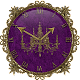 Purple Gold Chandelier Clock Widget for PC-Windows 7,8,10 and Mac