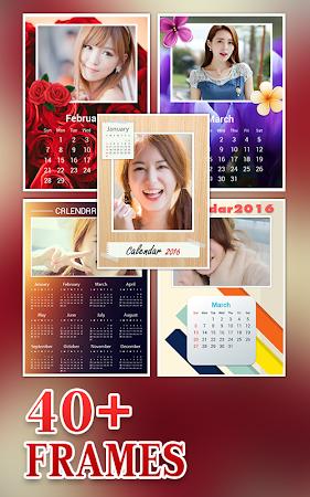 Calendar Photo Frame 2016 1.1 screenshot 428960
