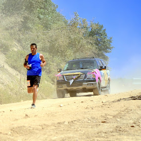 Emerging from the Dust by Ben Steiner - Sports & Fitness Running ( bani bands - runners challenge, active, runner, running, bani-bands )