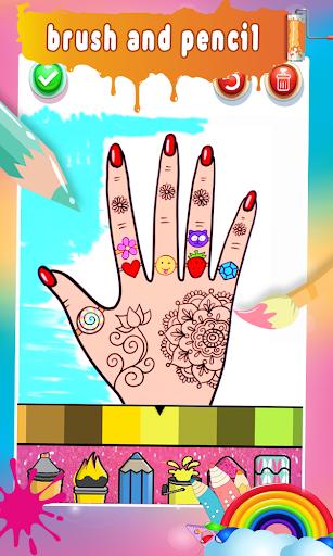 Glitter Nail Drawing Book and Coloring Game screenshot 13