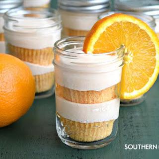Orange Creamsicle Cakes In Jars.