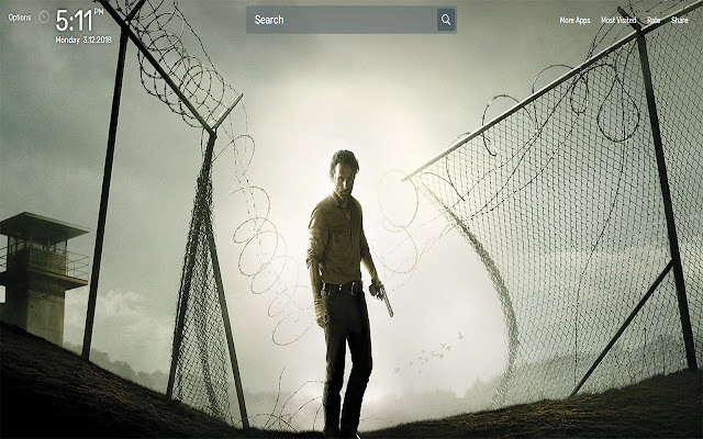 The Walking Dead Wallpapers NewTab Theme