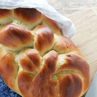 Homemade Challah Bread with a 6 Stranded Braid.