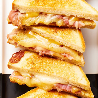 """Smoked Cheddar and Ham Toasties with Fig """"Mostarda"""" Recipe"""