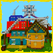 Hello Neighbor Alpha-4 Map for MCPE APK for Bluestacks