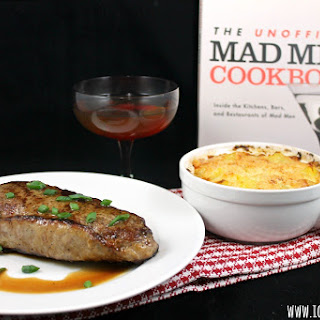 Virtual Mad Men Finale Party - Steak in the Pan with Butter, Potatoes au Gratin, and a Perfect Manhattan