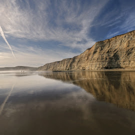 Drakes Beach, California by Arvind Mallya - Landscapes Waterscapes ( point reyes, reflections, california pacific ocean, drakes beach )