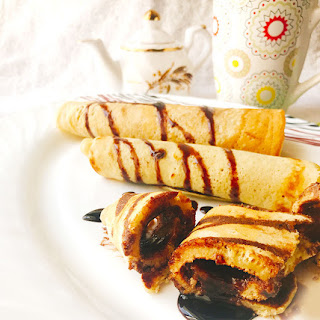 Chocolate Pancake Roll - Easy Pancake Dessert Recipe for Kids.