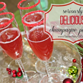 Seriously Delicious Holiday Champagne Punch.