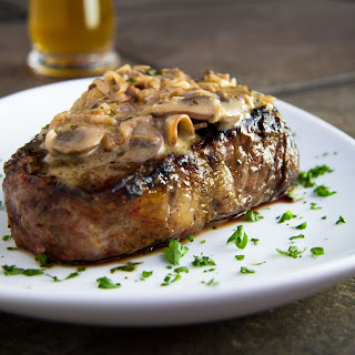 Fillet Steaks with Mushroom & Whiskey Sauce (Or as Zoë says, the best sauce she has ever had).