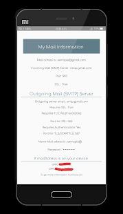Mail info - náhled