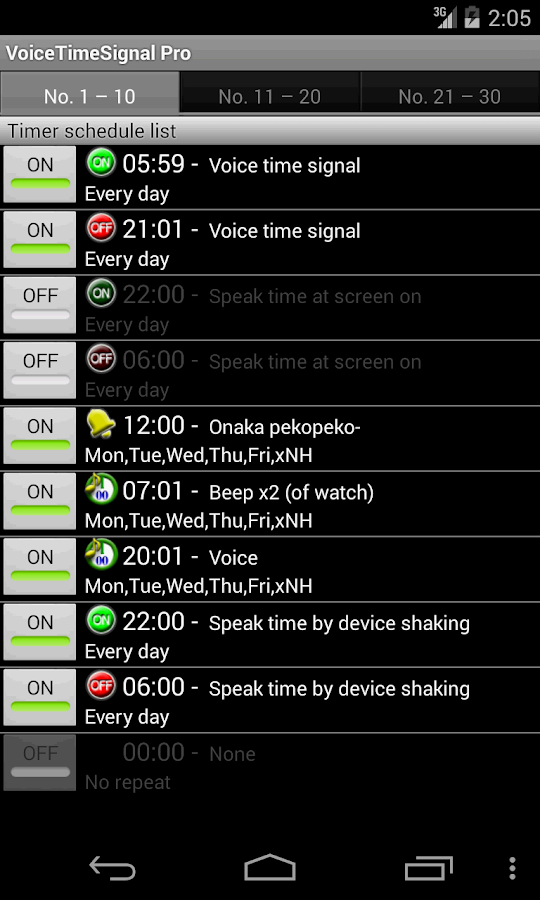 VoiceTimeSignal Pro- screenshot