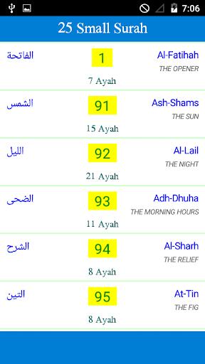 25 Small Surah of The Quran ss1