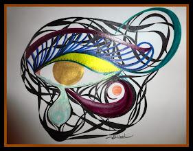 Photo: 026 (View B) CLEANSING ~ ОЧИЩЕННЯ Luba Bilash original ~ ink matted & float-framed $120