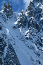Photo: Can you spot us just below the col?