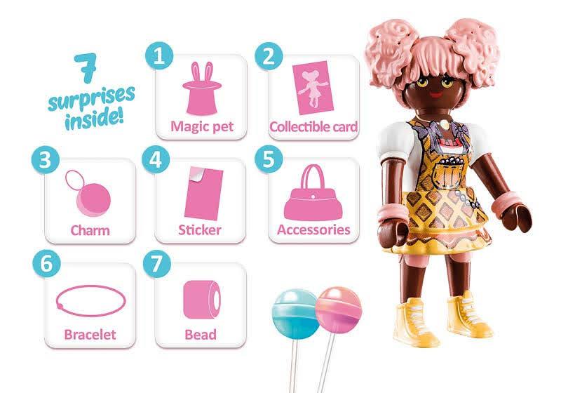 Contenido real de Playmobil® 70388 Candy World: Edwina
