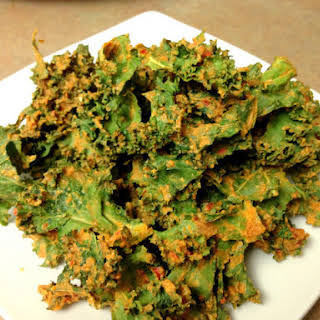Cheesy Doritos Kale Chips.