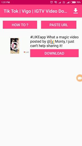 Musically | Tiktok | IGTV | VIGO Video Download Apk by Digi